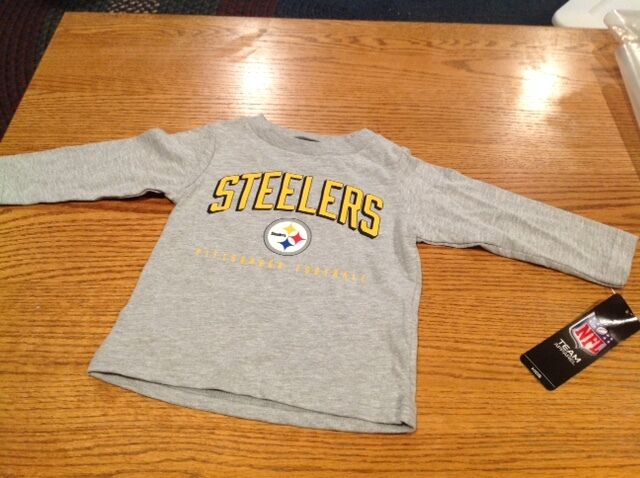 NFL Pittsburgh Steelers Unisex-Baby Long-Sleeve Tee 12 Months Gray