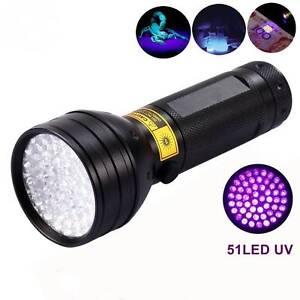 51 led uv light 395 400nm led uv flashlight torch for uv leak detector. Black Bedroom Furniture Sets. Home Design Ideas