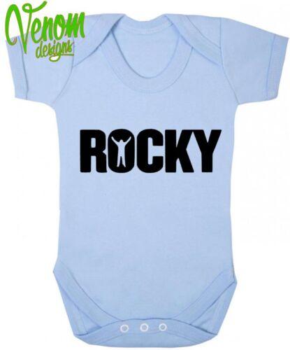 Rocky boxe rocky balboa funny baby grow douche gilet body cadeaux fête des pères