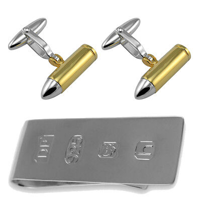 JAMES BOND  007 HIGH QUALITY GOLD PLATED CUFF LINKS IN PLAIN BOX