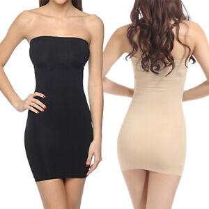 fc8c18d4dabc Women's Strapless Slip Full Body Shaper Shapewear Dress One Piece ...