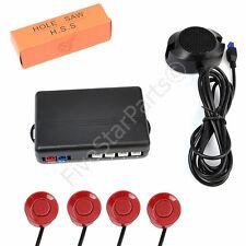 Reverse rear parking sensors KIT (4) with Buzzer audio alarm RED