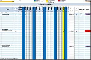 Details About Accounting And Business Automated Microsoft Excel Work Task Management Calendar
