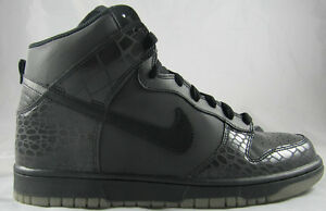 huge discount 1e52e ec500 nike dunk high reflective black crocodile