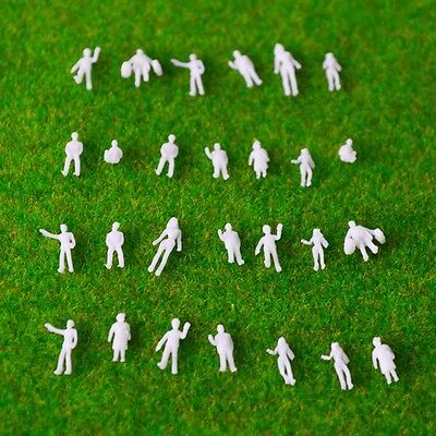 1:200 Scale Architectural White Model Figures People : Packs Of 50, 100 Facile Da Lubrificare