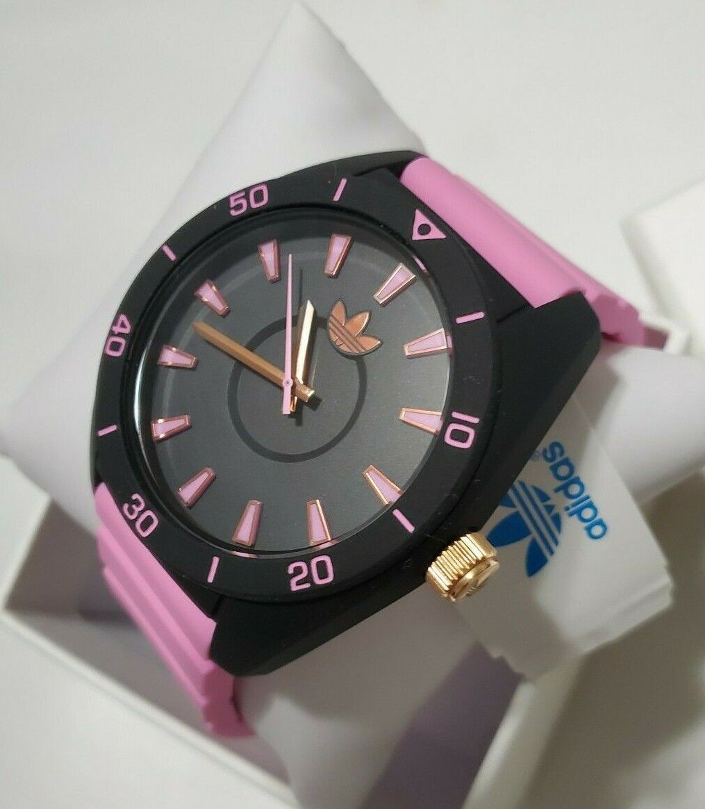 New adidas women's silicone pink black color ADH9060