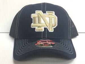 save off dce26 d4dee Image is loading Notre-Dame-Irish-Cap-Zephyr-Adjustable-Snapback-Staple-
