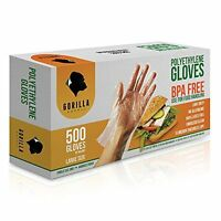 500 Bpa Free Disposable Poly Pe Gloves Large, Food Grade, New, Free Shipping on sale
