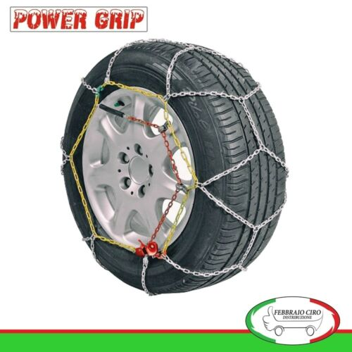 Catene da Neve Power Grip 9mm Gruppo 60 per pneumatici 195//45r16 Lancia Ypsilon