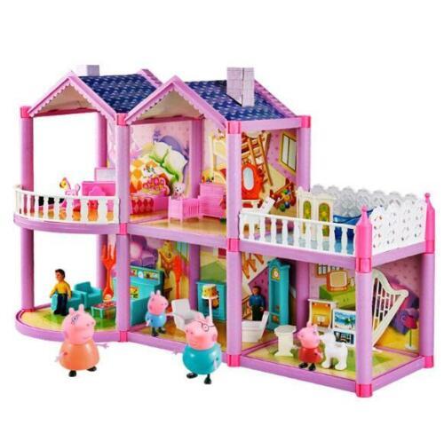New Creative Toy Peppa Pig Peppa/'s House Villa Kids DIY Assembling Toys