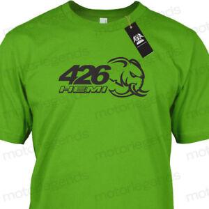 Mopar Dodge 426 Crate Hemi Hellephant Adult Cotton Motorsport Tee T