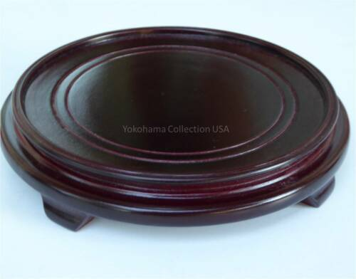 """Asian 7.5/""""D Round wood Stand For Vase Inner 6.5/""""D"""