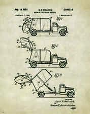 Garbage Truck Patent Art Print Poster Waste Management Sanitation Toy PAT296