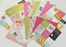SIMPLE STORIES [SUNSHINE & HAPPINESS] 12x12 Paper (19 Sheets)  Save 60%