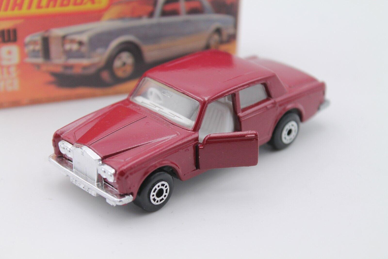 MATCHscatola SUPERFAST 39  RollsRoyce argento Shadow  OVP  Dark rosso  1979