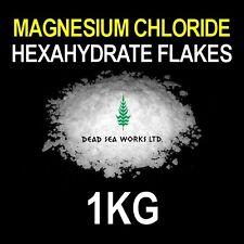 1KG - Magnesium Chloride Hexahydrate Flake 47% Dead Sea Salt Aquarium FREE P&P