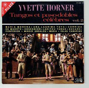 33T-25cm-Yvette-HORNER-Vinyle-TANGOS-PASO-DOBLES-CELEBRES-Vol-2-PATHE-26036-RARE