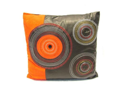 """16/""""X16Inch Bed Leather Circle Decorative Throw  Pillow Cushion Sofa"""
