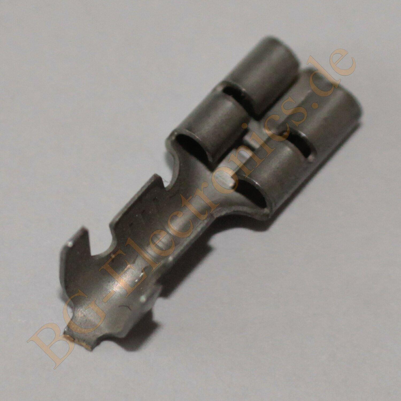 50 x Flachsteckhülse blank 4.8x 0.8 0-0100494-2 AMP 50pcs