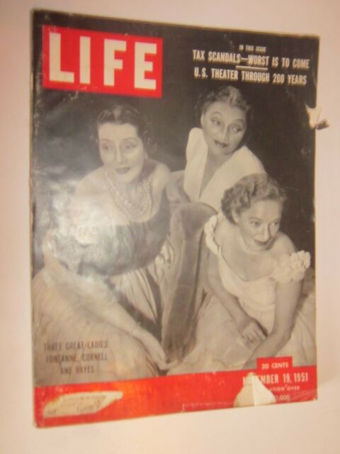 1951 Life Magazine issue November 19 Fontanne, Cornell, Hayes on cover