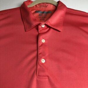 Greg-Norman-Golf-Men-s-Short-Sleeve-Polo-Shirt-XXL-2XL-Pink-Multicolor-Stripes