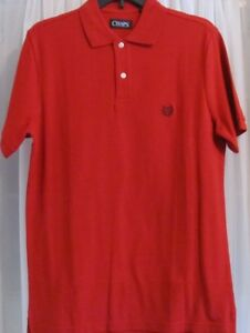Details about Mens' CHAPS Red Short Sleeve Polo Shirt Sizes Small or Medium NWT