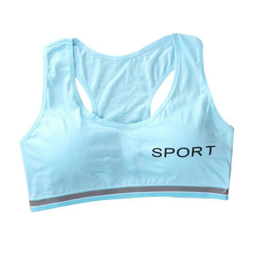 Girls Sports Bra Pubertas Crop Top Teens Tank Vest Intimates Underwear One Size