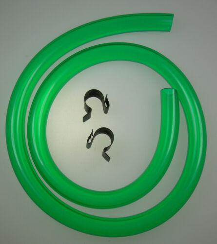 Mk1 cortina radiateur over flow pipe vert translucide /& clips gt lotus neuf