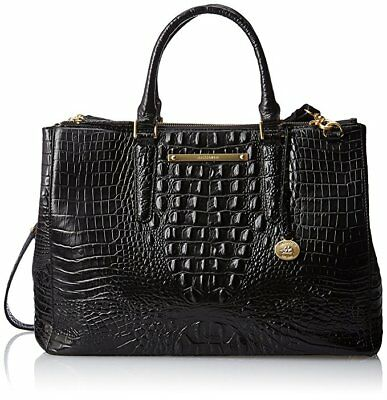 Brahmin Lincoln Satchel Black Croc Leather Business Brief Work Bag Finley 749034198221 Ebay