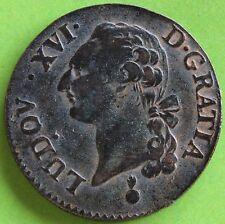 LOUIS XVI - SOL A L'ECU - 1791 AA - SECOND SEMESTRE