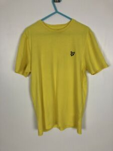 Lyle-And-Scott-Yellow-Short-Sleeve-T-Shirt-Crew-Neck-Size-Medium