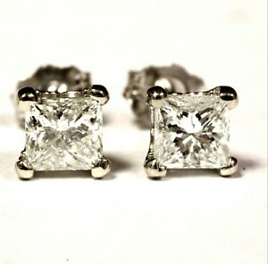 GIA-certified-14k-white-gold-1-03ct-I2-I-princess-diamond-stud-earrings