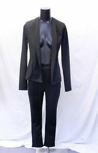 Boohoo-Women-039-s-2-Piece-Crepe-Fitted-Suit-LP7-Black-Size-US-6-UK-10-NWT