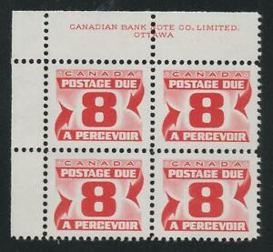 "1969 Canada SC# J34ii UL ""Second Issue"" Postage Due HB Plate Block M-NH # BB 12a"