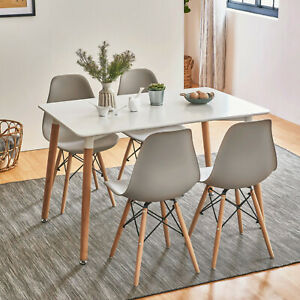 Dining-Table-and-Chairs-4-6-Set-Wooden-legs-Retro-dining-Room-Chair-Grey-Kitchen