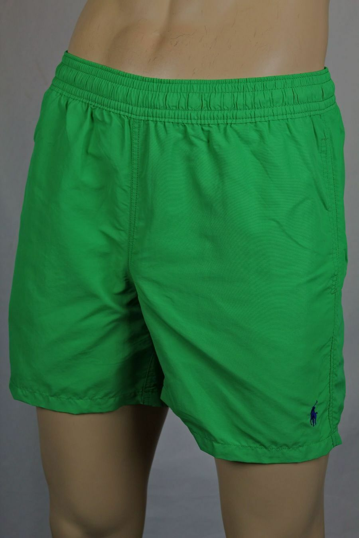 Ralph Lauren Green Swim Shorts Trunks bluee Pony NWT