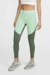 Nike Womens Sportswear Training 7/8 Crop Tight Nike Pro Green AO9970-326 Size L