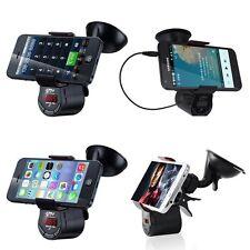 FM Transmitter Car Kit Handsfree Speaker Charger MP3 Player Phone Mount Holder