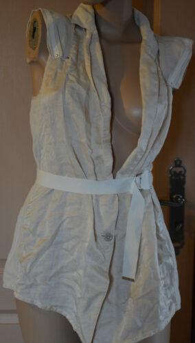 Veste 38 Femme Neuf High Beige Avec Sans Manche Use Étiquettes Taille Magnifique SHwqBdd