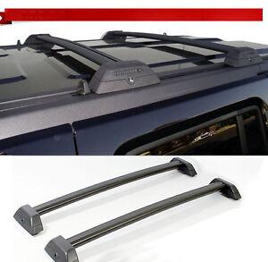 for 06 10 hummer h3 h3t black roof rack cross bar set w. Black Bedroom Furniture Sets. Home Design Ideas