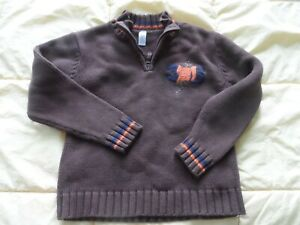 Carter/'s Sweater Boy/'s 5 5T 1//2 Zip Pullover Warm Black Red NWT