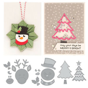 Snowman for Christmas Metal Steel Cutting Dies Embossing Stencils for DIY Craft