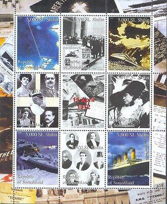 Selbstlos Titanic 3 Blocks Schiffe Ship Barco ** Postfrisch Private Ausgabe ZuverläSsige Leistung Briefmarken Luftfahrt