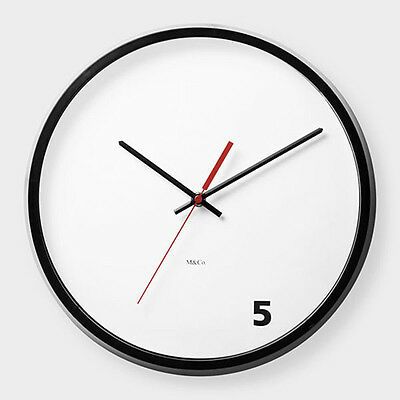 MoMA 5 O'Clock Wall Clock Modern Unique Art Office Work Contemporary Clock