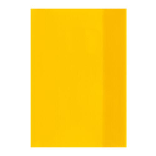 Farbe 10 Herlitz Heftumschläge transparent gelb Hefthüllen DIN A5