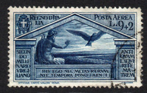 Italy 9 Lire + 2 Lire Air Mail Stamp c1930 Used Cat.£600 (4832)