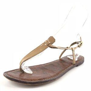 03156352e68 Sam Edelman Gigi Beige Patent Leather Thong Sandals Women s Size 9.5 ...