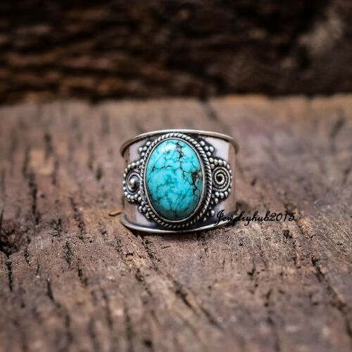 Turquoise Ring 925 Sterling Silver Ring Meditation Ring All Size liii57