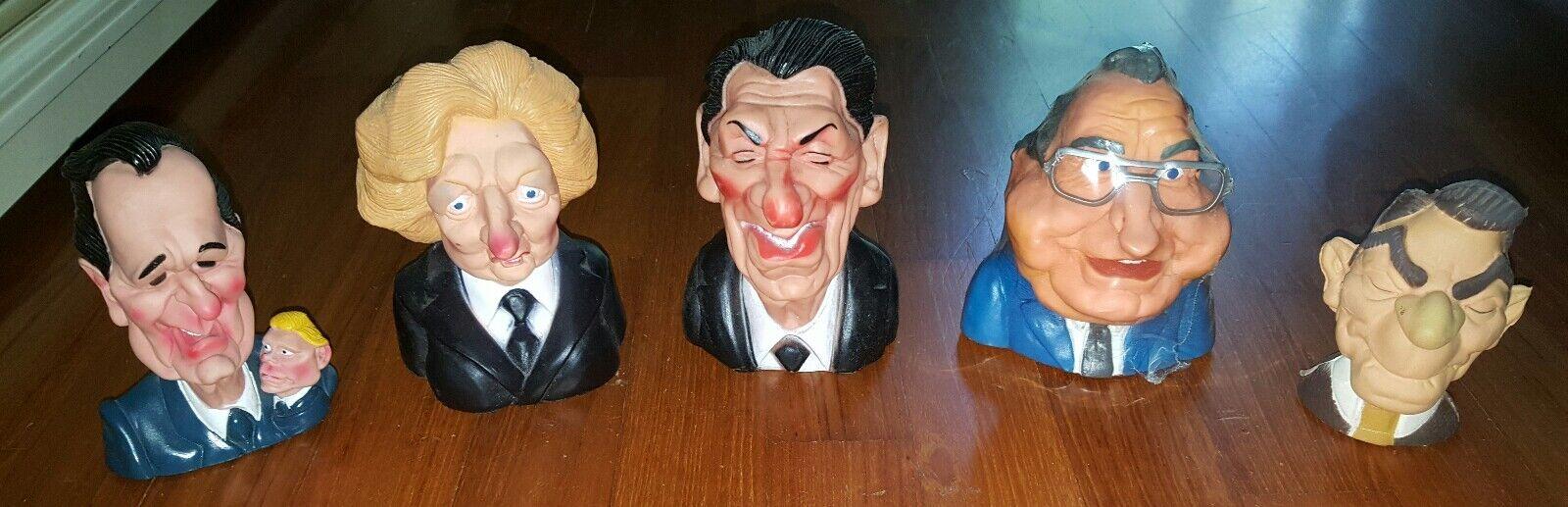 Busti Politici politician Tatcher, Koll, Regan, figurine figure pvc uk usa 80