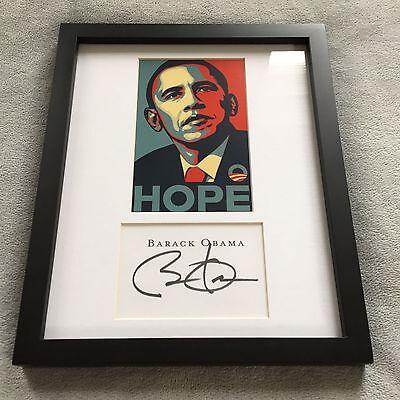 Barack Obama : Signed Autographed Framed - (Reprint)